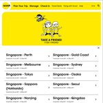 1 for 1 Flights from Scoot (21 Destinations)