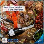 One Dines Free Brunch at Hilton Singapore with Every 2 Paying Adults (Citibank Customers)