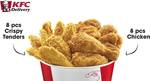 8pcs Chicken + 8pcs Crispy Tenders for $22 at KFC Delivery