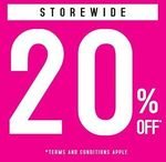 Sasa 20% Off Store-wide at All Stores Until Monday 21 August